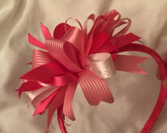 Pink Funky Loop Wrapped Headband