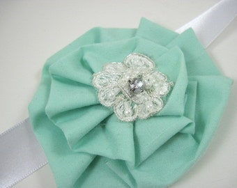 Sash sale - Bridal sash - mint green sash - mint wedding - maternity sash - vintage sash