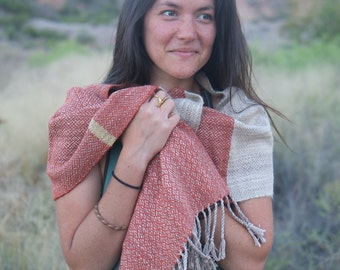 Baby Alpaca & Tussah Silk Textural Delight - Modern Heirloom Handwoven Everyday Luxury Scarf