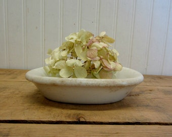 "Vintage Ironstone China 6"" Small Oval Soap Dish Bowl"