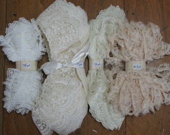 Lace Ruffles Destash Lot 34-3/4Yards