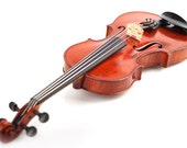Custom Violin & Music Notes Wine Glass
