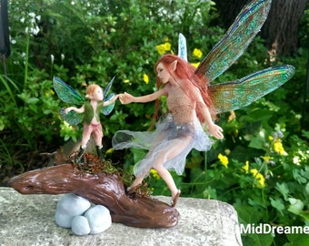 MidDreamers Wildwood Fairy Shylah and childfairy Mylor