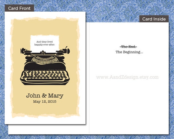 Happily Ever After, Customized Wedding Card, 5x7 inch