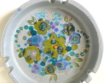 Midcentury Modern Signed Sascha Brastoff Ashtray California Pottery