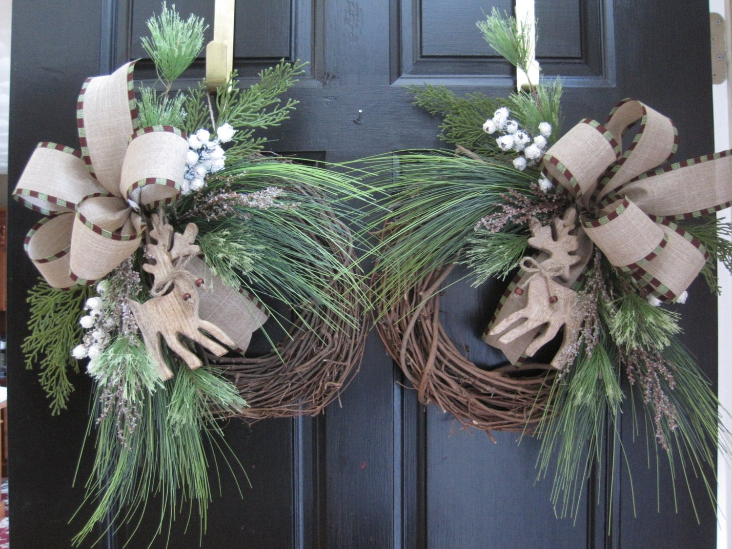 After christmas sale winter double door wreaths christmas for After christmas christmas decoration sales