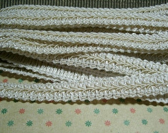 "10 yards WHITE GIMP TRIMMING 1/2"" wide embellishment decoration"