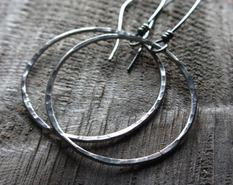 Evermore - Sterling silver circle earrings