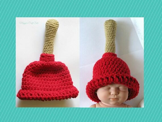 Plunger Hat Baby Beanie Plumber Gag Gift Funny Hats Toilet