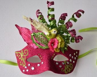 MASK- Florentine Flight- masquerade mask, Mardi Gras,ballroom, fairy, Venetian, Halloween