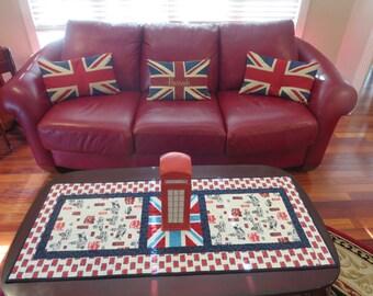 Homemade British Table Runner