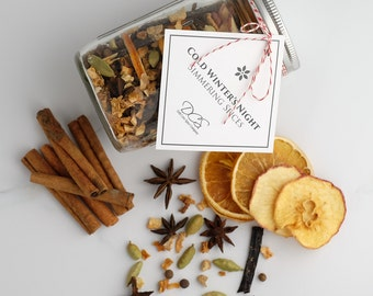 Christmas simmering spices - simmering potpourri Mason jar gift, Christmas potpourri, holiday simmering pot, all natural scent air freshener