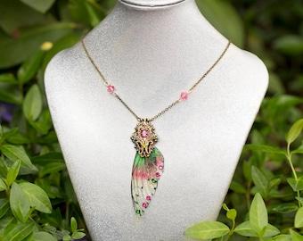 New! Nelkie wing Necklace Brass
