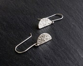 Half Moon Sterling Silver Earrings