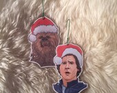 Han Solo and Chewbacca Christmas Ornaments