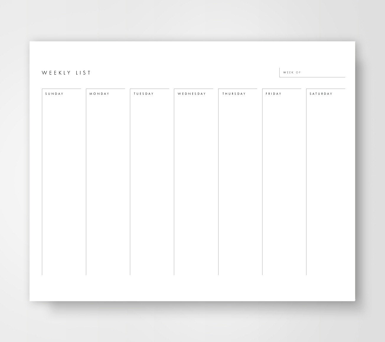Weekly Calendar With To Do List : Weekly calendar printable to do list