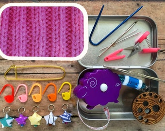Pink Travel Notions Kit for your Knitting Bag