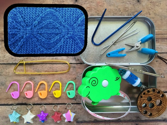 Aviatrix Cables: The Knitter's Tool Altoid Tin with notions for your Knitting Project Bag
