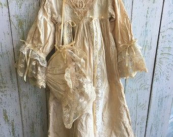Hand made vintage doll gown