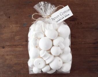 Spun Cotton Sampler Pack - 76 Assorted Spun Cotton Craft Shapes