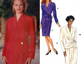 Butterick 5068 Sewing Pattern for Misses' Wrap Top, Mock Wrap Skirt and Pants  - Uncut - Size 18, 20, 22 - Bust 40, 42, 44