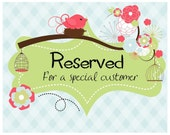 Reserved order for Shannon!