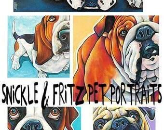 Custom Pet Portraits on Canvas Original Canvas Art Painted from your photographs Dog Art Pet Art