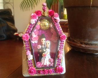 Day of the Dead Wedding Nicho/Shrine/Altar Piece.