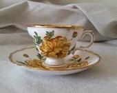 Shop closing sale Vintage teacup Rosina England bone china chrysanthemum collectible tea cup