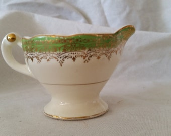 Mother's day vintage green Stetson china ceramic creamer