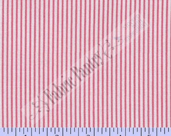 Precious Beginnings PINK Stripe ~ Quilt Fabric By The Yard ~ Faye Burgos ~ Marcus Brothers ~ R37-5526-0189