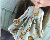Blythe Dress - Vintage Animals