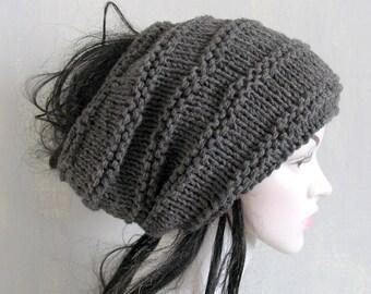 Dreadlocks accessory, Black Tube Hat Headband, Wide Knitted Hair Wrap.