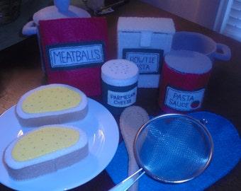 Felt Pasta Set