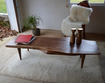 In Stock! Live Edge Walnut Coffee Table