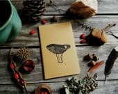 Mushroom Rustic Pocket Size Journal Notebook Hand Carved Nature Fungus Botany Flora Camping Men Dad Husband Guys Christmas Gift Present