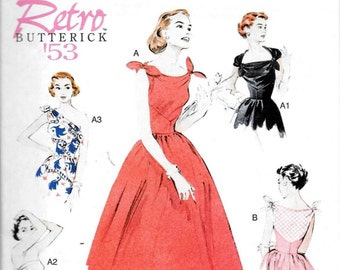 Butterick B5708 Retro 1950s Reissue Womens Rockabilly Dress Sewing Pattern Plus Sizes 14, 16, 18, 20 and 22 UNCUT
