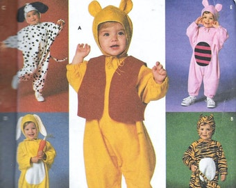 Simplicity 7374 Toddler Baby Childrens Winnie The Pooh Tigger Piglet Dalmation Halloween Costume Sewing Pattern Size 1/2, 1, 2, 3, 4