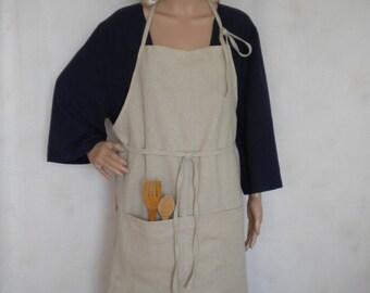 linen apron washed linen full apron natural linen long apron traditional pinafore linen apron