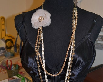 Necklace Boho Festival Flower Paris Chic ShabbyVintage