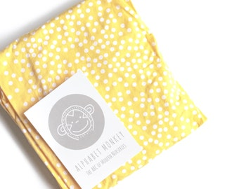 spotty xl fitted crib sheetyellow crib bedding cot sheet crib