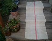 Antique Grainsack, Grainsack Fabric, Red and White