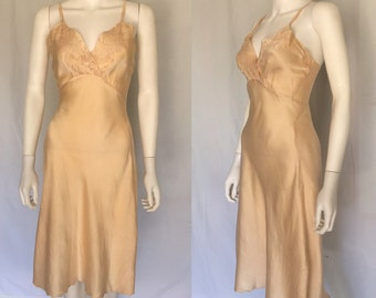 Vintage 30's Ballet Pink Silk Slipdress/Nightgown