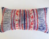 Boho Throw Pillow Cover - Hmong Pillows - Tribal Textile Decorative Pillow Cover