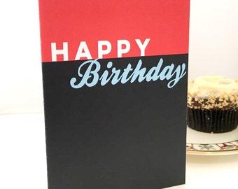 Happy Birthday card | Birthday Card | Minimalist Card | Typography Card | Love Card | Friendship Card | Card for husband | Card for him