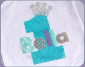 Frozen Princess Birthday- Elsa Birthday- Princess T Shirt- Personalized Shirt- 1st 2nd 3rd- Any Number or Letter