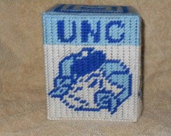 UNC Rams Head Tissue Box Cover Plastic Canvas Pattern