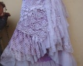 "20%OFF vintage inspired extra shabby wrap skirt...a work of art 42"" across plus ties..."