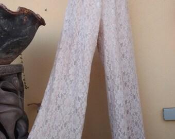 20%OFF bohemian lace boho wedding formal flares ivory lace...FREE SHIPPING