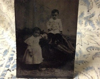 1896 Tintype children home decor